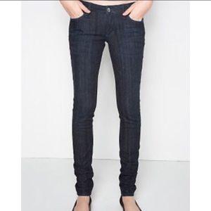 Bullhead Solana extreme skinny jeans dark wash